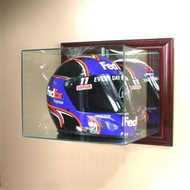 Deluxe Real Glass Wall Mounted Specially Oversized Racing Helmet Display Case