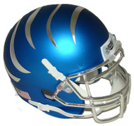 Memphis Tigers Satin Blue Chrome Alternate Schutt Mini Authentic Helmet