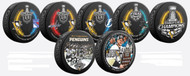 2016 Pittsburgh Penguins NHL Stanley Cup Champions Sherwood (7) Seven Souvenir Puck Set