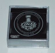 2016 NHL Stanley Cup Finals Playoff Sherwood Official Game Puck - Game 2 (Two)