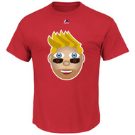 Bryce Harper Washington Nationals Majestic Official Name and Number YOUTH T-Shirt - EMOJI