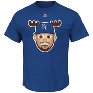 Mike Moustakas Kansas City Royals Majestic Official Name and Number YOUTH T-Shirt - EMOJI