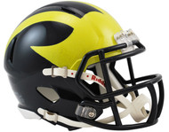 Michigan Wolverines 2016 (Painted Metallic) NCAA Riddell Speed Mini Helmet