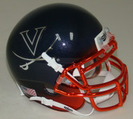 Virginia Cavaliers Alternate Navy Chrome Schutt Mini Authentic Helmet