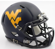 West Virginia Mountaineers 2016 Satin Navy Revolution SPEED Mini Helmet