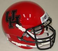 Houston Cougars Alternate Red Black Schutt Mini Authentic Helmet