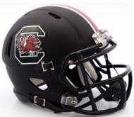 South Carolina Gamecocks Matte Black Revolution SPEED Mini Helmet