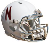 Nebraska Cornhuskers 2016 White Chrome Alternate Revolution SPEED Mini Helmet