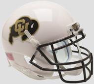 Colorado Buffaloes Alternate White Schutt Mini Authentic Helmet