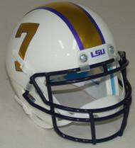 LSU Tigers Alternate Gridiron Gold Schutt Mini Authentic Helmet