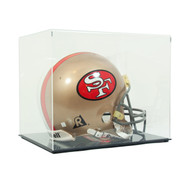 DELUXE ECONOMY FULL SIZE FOOTBALL HELMET DISPLAY CASE with Clear Top