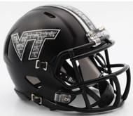 Virginia Tech Hokies Matte Black NCAA Riddell Speed Mini Helmet