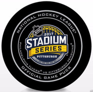 2017 NHL Stadium Series Pittsburgh Official Game Puck in Cube - Flyers vs. Penguins
