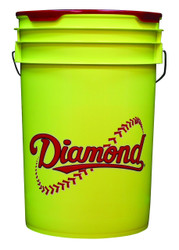 Diamond 6 Gallon Bucket With Padded Lid Black BKT Y