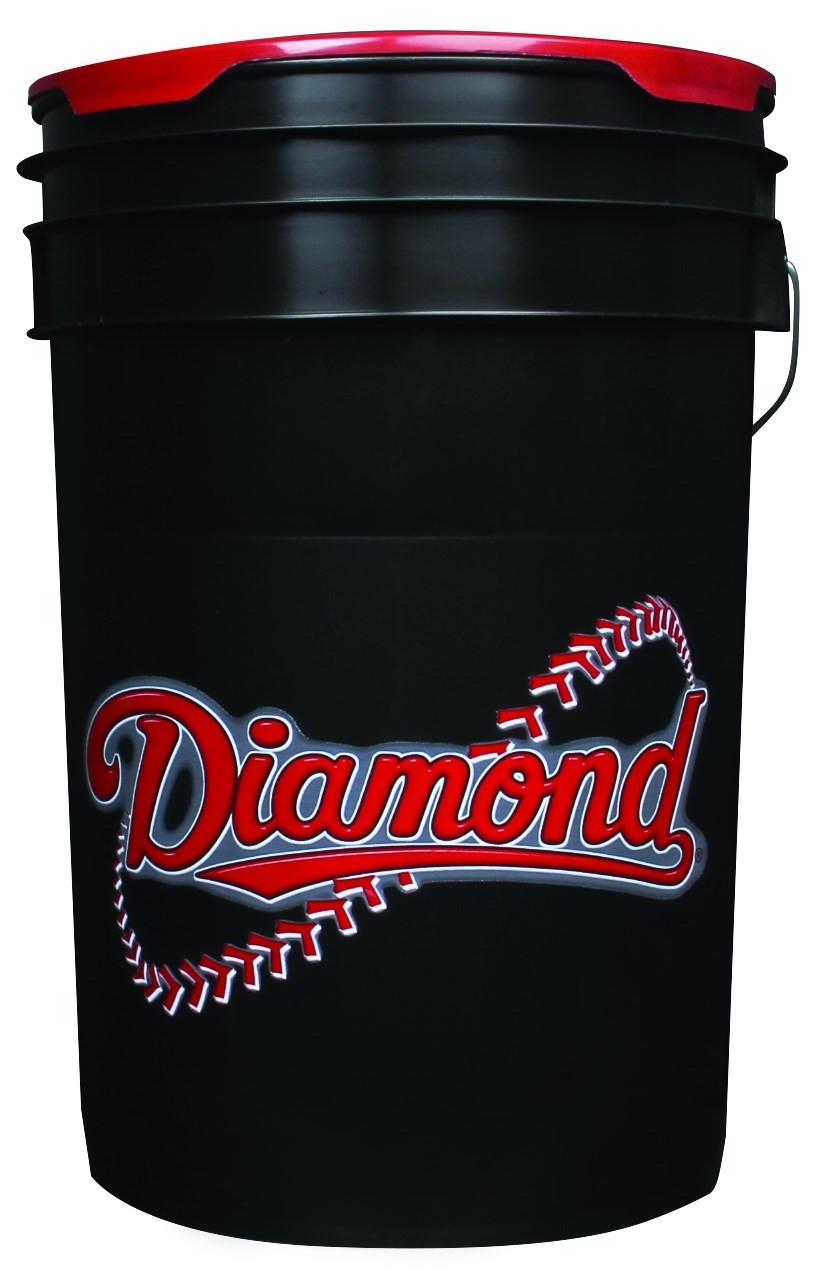 Diamond 6 Gallon Bucket With Padded Lid Black Bkt B Diamond Sports  C2 B