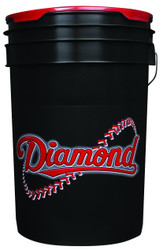 Diamond 6 Gallon Bucket With Padded Lid Black BKT B