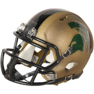 NCAA Michigan State Spartans Univeristy Gold 2011 Special Speed Mini Football Helmet
