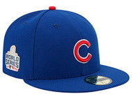 Chicago Cubs New Era 59Fifty 2016 WORLD SERIES Patch Fitted Hat Cap