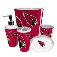 Arizona Cardinals NFL Complete Bathroom Accessories 5 piece Set
