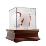 UV Grandstand Baseball Display on Wood Base