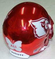 Louisville Cardinals Alternate ALI decal Red Chrome Schutt Mini Authentic Helmet