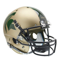 Michigan State Spartans Gold Combat Schutt Full Size Replica Helmet