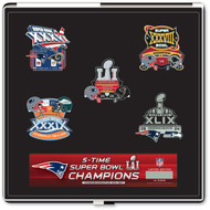 New England Patriots 5-Time Champions Super Bowl LI Commemorative Pin Set - Limited Edition