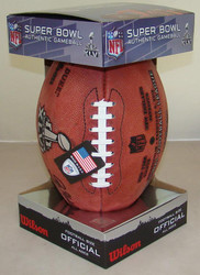 Super Bowl XLVI 46 Official Leather Authentic Game Football by Wilson