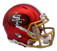 San Francisco 49ers Riddell Speed Mini Helmet - Blaze Alternate
