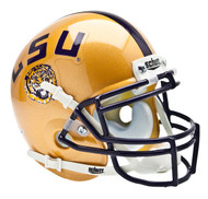 LSU Tigers 2009 Schutt Gold Throwback Mini Authentic Helmet