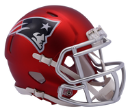 New England Patriots Riddell Speed Mini Helmet - Blaze Alternate
