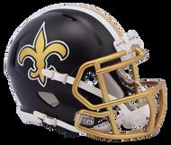 New Orleans Saints Riddell Speed Mini Helmet - Blaze Alternate 2017