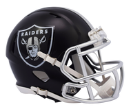 Oakland Raiders Riddell Speed Mini Helmet - Blaze Alternate