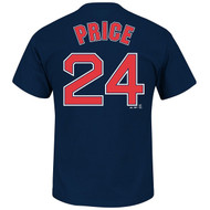 David Price #24 MLB Official Name and Number Mens T-shirt