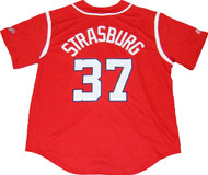 Washington Nationals Stephen Strasburg #37 Alternate Red Men's Jersey by Majestic