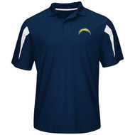 Los Angeles Chargers Majestic NFL Field Classic Performance Polo Shirt