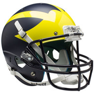 Michigan Wolverines Alternate Satin Blue Schutt Full Size Replica Helmet