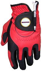 Zero Friction NFL Washington Redskins Red Golf Glove, Left Hand