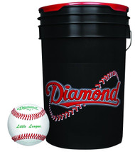 Diamond 6-Gallon Ball Bucket with 30 DLL-1 Little League Baseballs