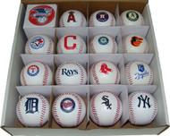 RAWLINGS TEAM REPLICA AL BASEBALL COLLECTOR SET OF 15 (American League)