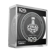 2017 Stanley Cup Finals Game #3 (Three) Pittsburgh Penguins v Nashville Predators Official Game Hockey Puck with Cube