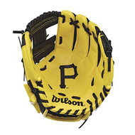 "Wilson A200 10"" Pittsburgh Pirates MLB Baseball Tee Ball Youth Glove - Right Hand Throw"