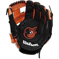 "Wilson A200 10"" Baltimore Orioles MLB Baseball Tee Ball Youth Glove - Right Hand Throw"