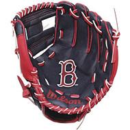 "Wilson A200 10"" Boston Red Sox MLB Baseball Tee Ball Youth Glove - Right Hand Throw"