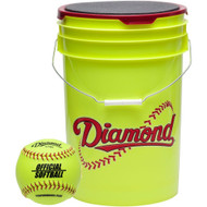 Diamond 18 Softballs Bucket Combo with 11-inch Softballs (includes 18 11YSC Softballs)