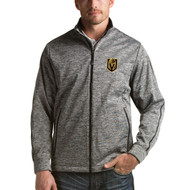 Las Vegas Golden Knights Men's Heather Black Full-Zip Golf Jacket