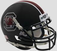 South Carolina Gamecocks Alternate Matte Black Schutt Mini Authentic Helmet