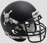 Army Black Knights Alternate Matte Black Schutt Authentic Mini Helmet