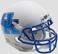 Kentucky Wildcats Alternate White Chrome Schutt Authentic Mini Helmet