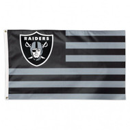 Oakland Raiders Los Angeles Raiders NFL American Flag 3 foot by 5 Foot